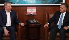اللواء ابراهيم التقى رئيس مجلس أعمال صربيا