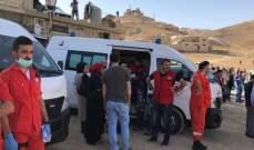 الصليب الأحمر اللبناني واكب عملية مغادرة العائدين إلى سوريا