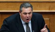 وزير الدفاع اليوناني يطالب بالإفراج عن الجنديين المحتجزين في تركيا