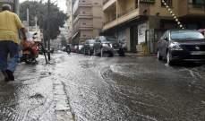 اشتداد العاصفة في منطقة الجومة في عكار