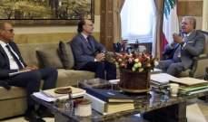 المشنوق التقى مدير صندوق التنمية الاقتصادية والاجتماعية ووفداً من آل ياسين في البقاع