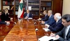 الرئيس عون عرض مع كارديل للأوضاع العامة والتعاون مع منظمات الأمم المتحدة