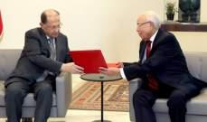 الرئيس عون تسلم دعوة للمشاركة بالقمة العربية في تونس والتقى سفير لبنان بالسعودية