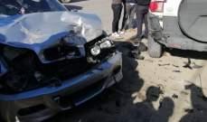 الدفاع المدني: جريحان اثر حادث سير في بدنايل