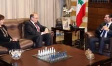 الحريري عرض وبيلينغسلي جهود لبنان لمكافحة تمويل الإرهاب وتبييض الأموال
