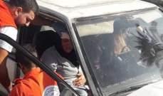 النشرة: جريحة في حادث سير على تقاطع إيليا في صيدا