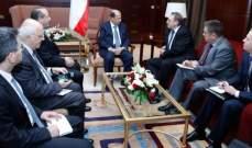الرئيس عون يلتقي  ميخائيل بوغدانوف في مقر إقامته في السعودية
