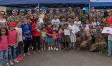 """جنود """"اليونيفيل"""" شاركوا في """"كرمس الصيف"""" في تبنين بحضور 2500 طفل"""