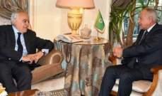 أبو الغيط وسلامة استعرضا آخر التطورات السياسية والأمنية في ليبيا