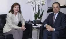 ريتشارد اكدت خلال لقائها بطيش حرص بلادها على استقرار لبنان الاقتصادي