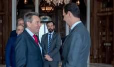 الأسد بحث مع ماورير التعاون القائم بين الحكومة السورية والصليب الأحمر الدولي