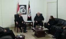 حمدان التقى وفدا من حزب طليعة لبنان وتأكيد على توحيد جهود القوى القومية