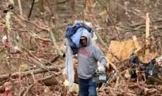خراب ودمار في ولاية ألاباما الأميركية بعد أعاصير عنيفة