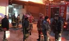 فوج اطفاء بيروت أخمد حريقا في منطقة فردان بعد اخلاء سكان المبنى