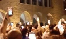 وصول شعلة النور المقدس إلى كاتدرائية مار جاورجيوس