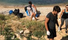 إدغار معلوف يشارك بتنظيف الشاطئ والبحر في المعاملتين