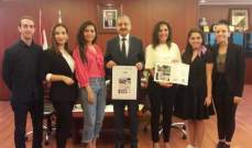 تقدير أممي لطلاب الجامعة اللبنانية – كلية الفنون الجميلة والعمارة