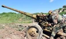 """الجيش السوري وجه ضربات مدفعية وصاروخية على أوكار مسلحي """"النصرة"""" بريف إدلب"""