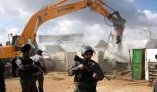 الآليات الإسرائيلية تهدم قرية العراقيب جنوبي اسرائيل