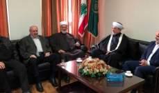 وفد من الجماعة الاسلامية التقى سوسان وأطلعه على قرار الترشح للانتخابات
