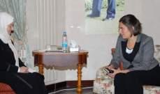 بهية الحريري إلتقت سفيرة كندا وبحثت معها العلاقات الثنائية