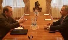 ارسلان التقى بوغدانوف: لضرورة ترسيخ مبدأ الشراكة في شتى المجالات