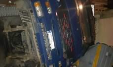النشرة: إنقلاب شاحنة محملة بصخرة كبيرة في صيدا