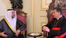 الشامسي نقل للراعي رسالة تعزية بصفير من وزير التسامح الاماراتي