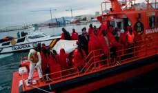 حرس السواحل الإسباني أنقذ 325 مهاجرا مع بداية العام الجديد