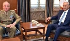 """رئيس مجلس النواب استقبل قائد """"اليونيفيل"""" الجديد وسفير أستراليا في لبنان"""