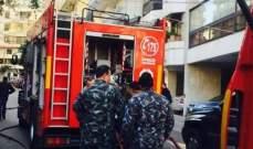 فوج اطفاء بيروت اخمد حريقا في منطقة قصقص