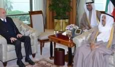 أمير الكويت استقبل جنبلاط برفقة العريضي وشهيب وأبو فاعور