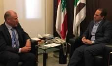 سامي الجميل عرض موضوع الانتخابات النيابية مع السفير الاسترالي