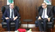 بو صعب استقبل النجاري وبحث معه الأوضاع العامة في لبنان والمنطقة