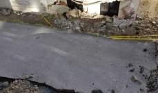 إنهيار حائط دعم في حارة صيدا والأضرار مادية