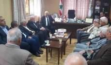وفد من حركة فتح زار بلدة المية ومية