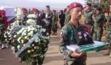 ممثل قائد الجيش بتشييع الشهيد المصري:الجيش لن يتهاون مع العابثين بالأمن