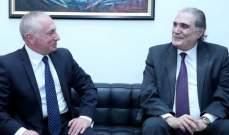 جريصاتي التقى سفير ارمينيا وعرض معه العلاقات الثنائية