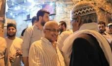 سعد جال على أحياء صيدا القديمة مهنئا بشهر رمضان