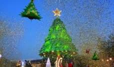 إضاءة شجرة الميلاد العاشرة في بنشعي