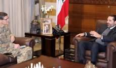 الحريري عرض مع فوتيل للمساعدات العسكرية الأميركية للجيش والتقى عز الدين والمطران كورية
