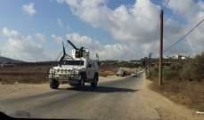 النشرة: قوة اسرائيلية تتفقد السياج الحدودي المحاذي للطريق العسكري