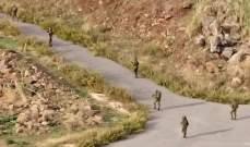 النشرة: قوة اسرائيلية مشطت الطريق العسكري ما بين الوزاني ووادي العسل