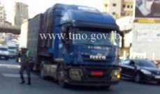 تعطل شاحنة على أوتوستراد جونية-المسلك الشرقي بعد جسر الصولديني وحركة المرور كثيفة
