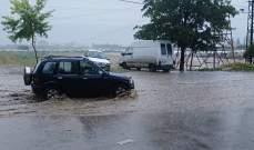 النشرة: سيول نتيجة تساقط أمطار وحبات من البرد في تمنين الفوقا- بعلبك