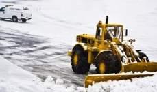 إلغاء 170 رحلة في مطار فرانكفورت الدولي بسبب الثلوج