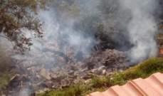 إصابة عامل مصري بحروق طفيفية نتيجة حريق أعشاب تم إخماده في المنصورية