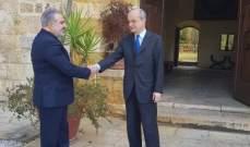 عميد الخارجية في القومي عرض وسفير إسبانيا موضوع النازحين