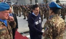 رئيس الوزراء الإيطالي تفقد كتيبة بلاده في الجنوب