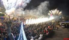 بلدية العقيبة احتفلت بإضاءة شجرة ومغارة الميلاد